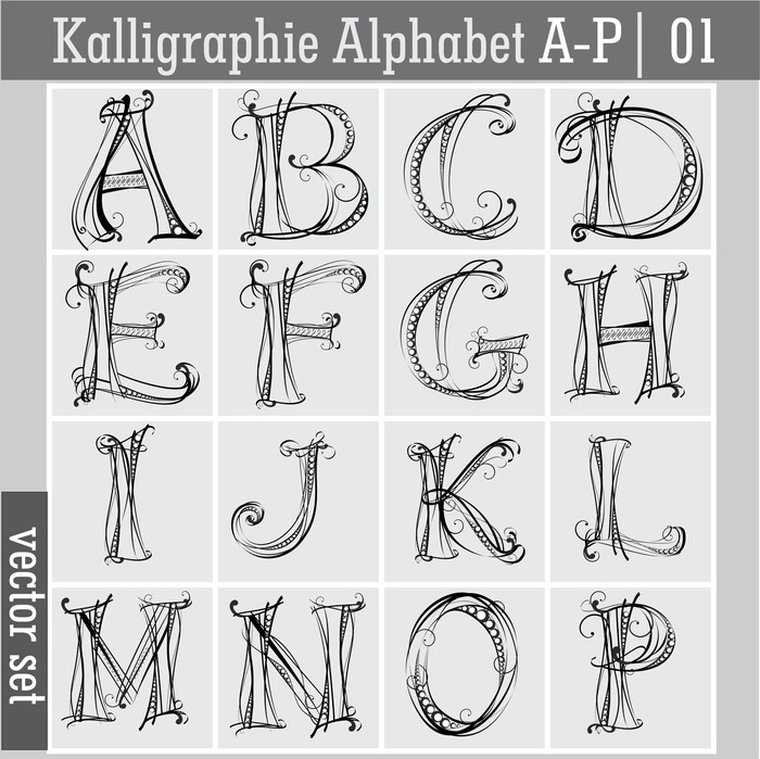 fototapete kalligraphie alphabet ap 01 pixers wir leben um zu ver ndern. Black Bedroom Furniture Sets. Home Design Ideas