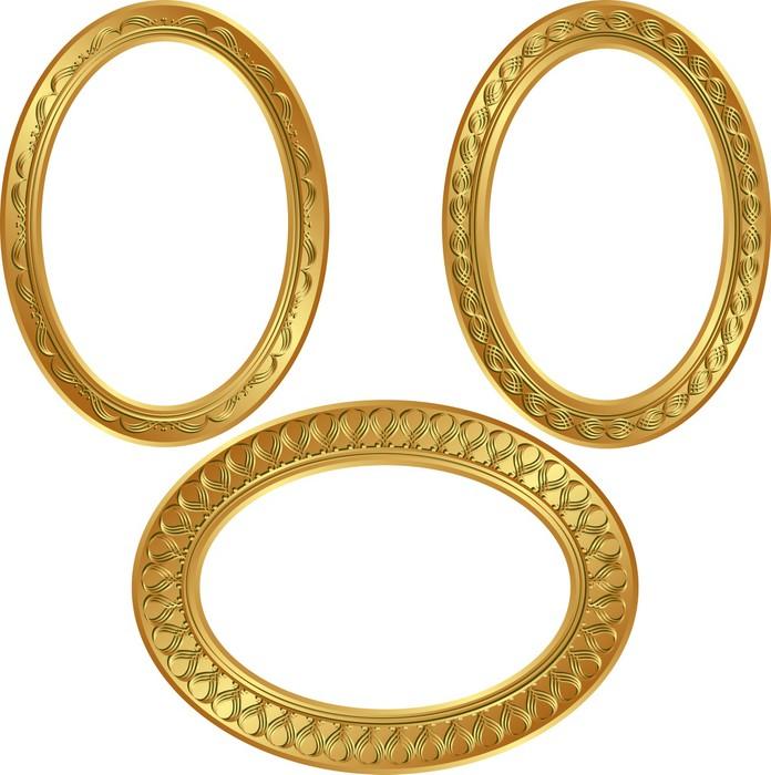 Vinilo Pixerstick Goldenl marcos ovalados • Pixers® - Vivimos para ...