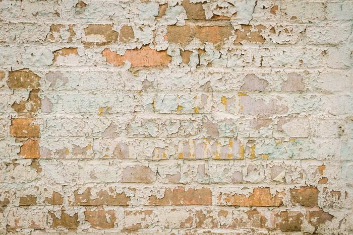 Papier peint vieux mur de briques avec la peinture for Kitchen cabinets lowes with poser papier peint