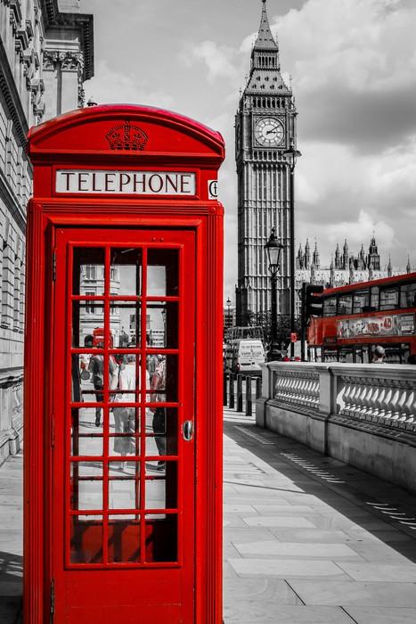 Sticker Cabine Tlphone Londres  Pixers  Nous Vivons Pour Changer