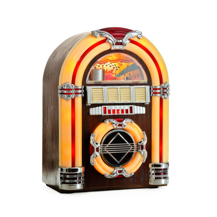 Papier peint retro jukebox isole o pixersr nous vivons for Kitchen cabinets lowes with papier peint 4 mur