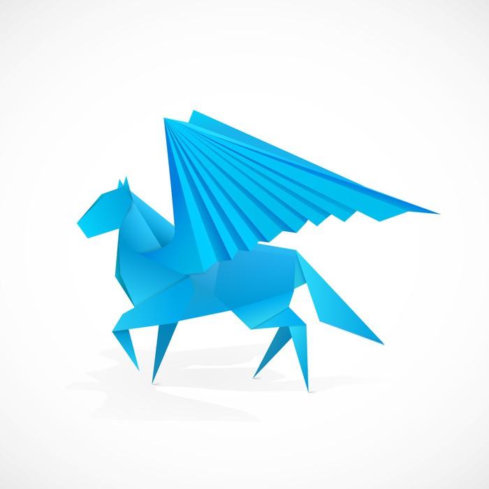 Origami Pegasus Wall Mural Pixers We Live To Change
