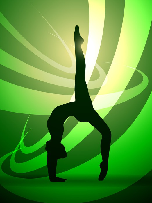 silhouettes gymnastics Wall Mural Pixers We live to change