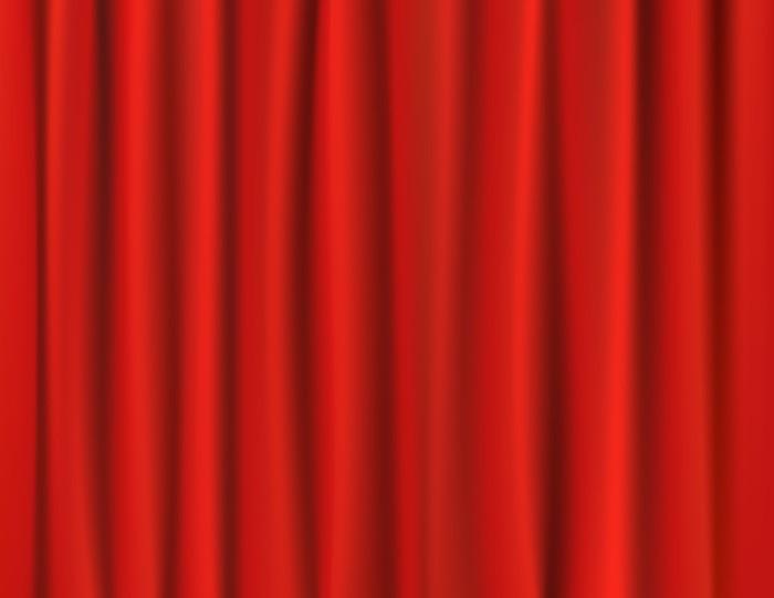 Sticker Rode gordijnen • Pixers® - We leven om te veranderen