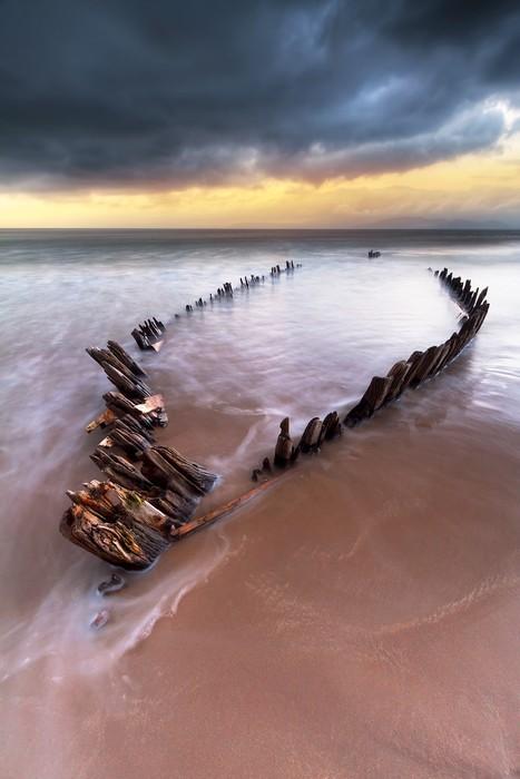 Vinylová Tapeta Sunbeam vrak lodi na pláži Rossbeigh, Irsko - Evropa