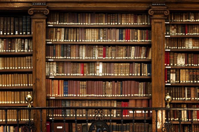 Papier Peint Vinyle Livres de bibliothèque -