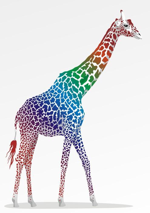 Vinylová Tapeta Žirafa - Savci