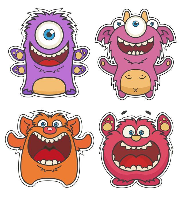Vinylová Tapeta Sada roztomilý kreslený Monsters - Osud