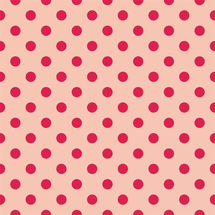 Fotomural Los puntos rojos, fondo de color rosa bebé retro patrón ...