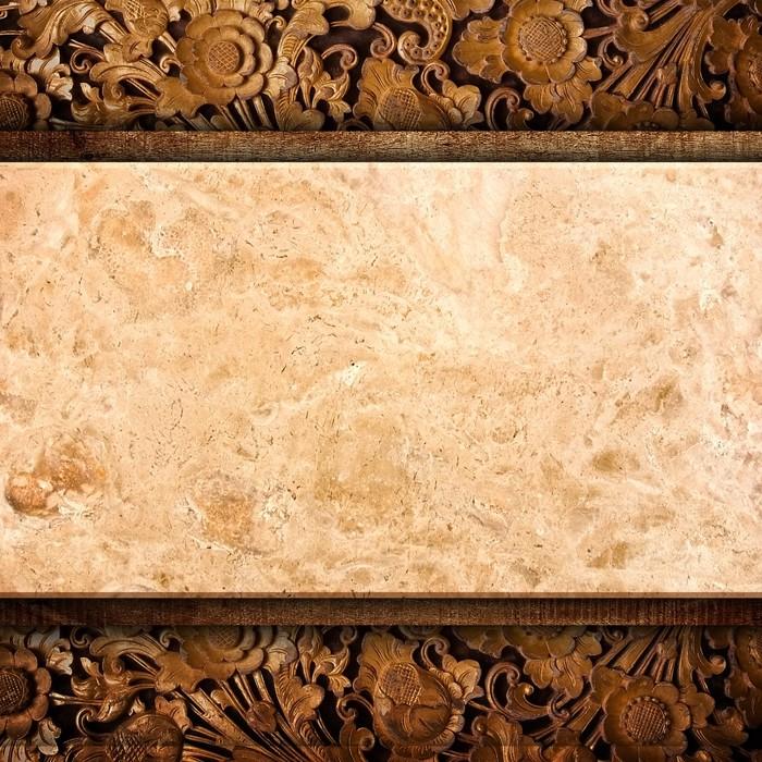 Papier peint marbre sur fond de bois pixers nous for Papier peint sur bois