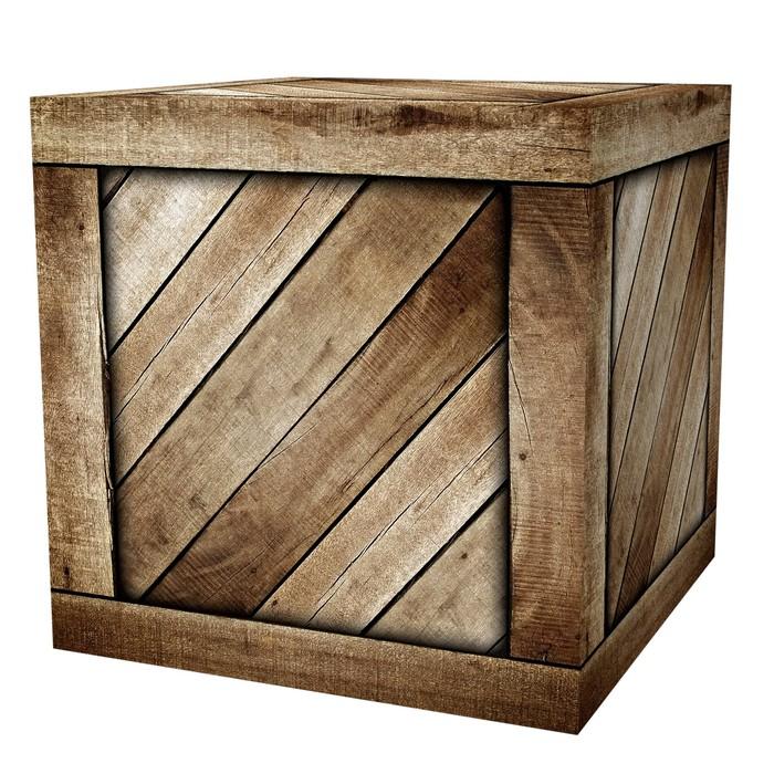 Nálepka Pixerstick Dřevěné krabici - Těžký průmysl