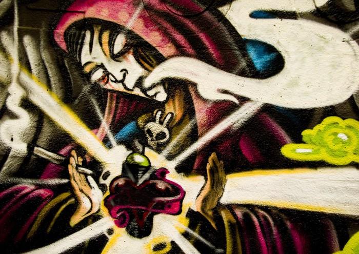 Vinylová fototapeta Urban graffiti - Vinylová fototapeta