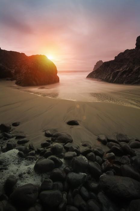 Vinylová Tapeta Krásné Coastal Sunset - Voda