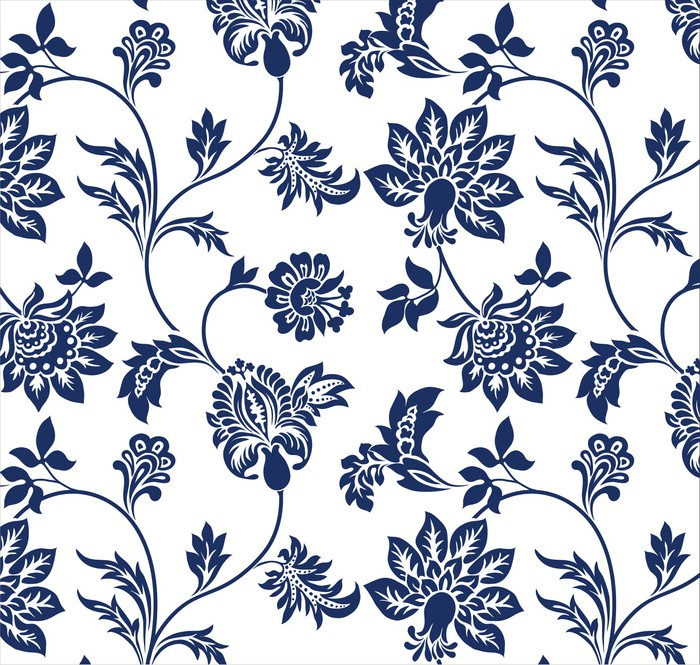 Traditional Floral Pattern Textile Design Royal India