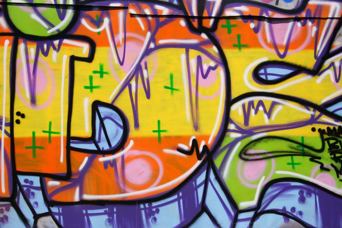 Fragment of urban graffiti Wall Mural • Pixers® • We live to change