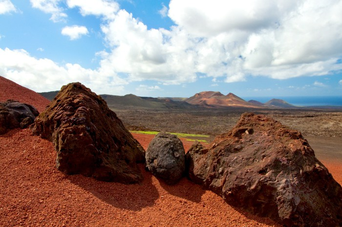 Nálepka Pixerstick Vulkanické horniny - Pouště