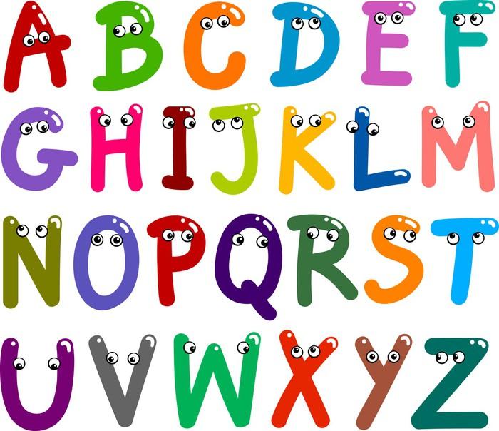 Naklejka alfabet litery mieszne pixers yjemy by - Lettres alphabet originales ...