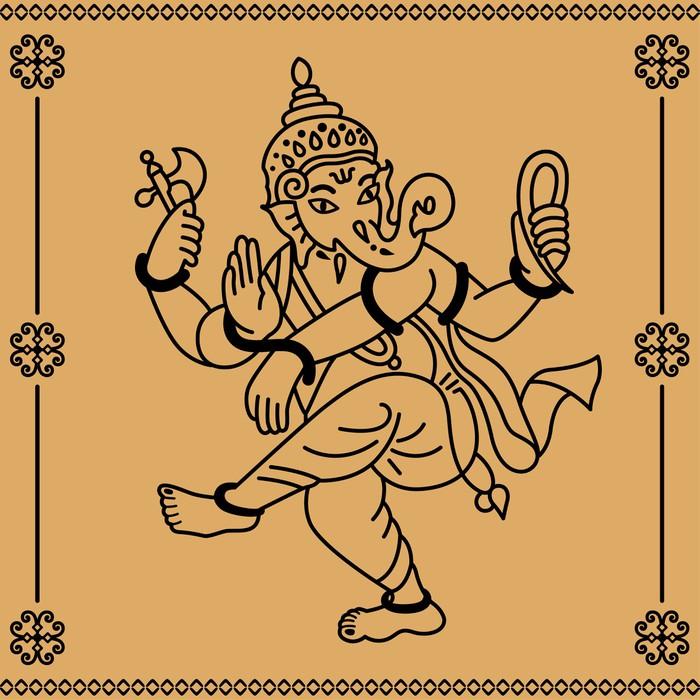 Vinylová Tapeta Ganesha - Asie