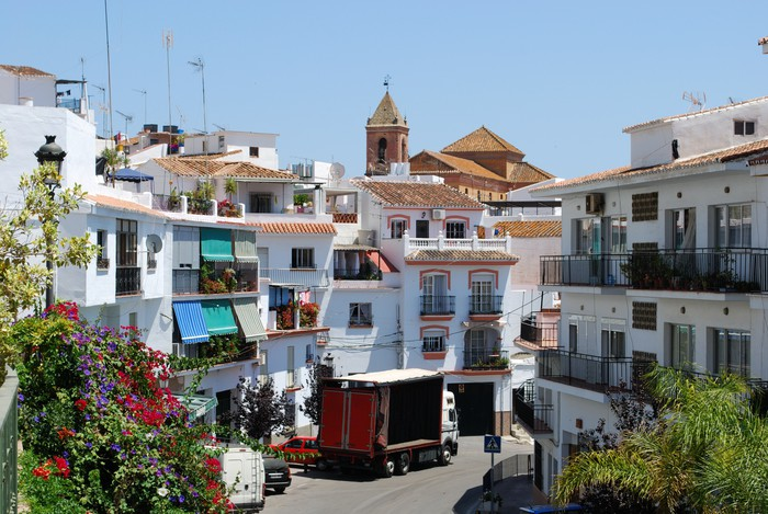 Vinylová Tapeta Village ulice, Torrox, Andalusia, Spain © Arena Photo UK - Témata