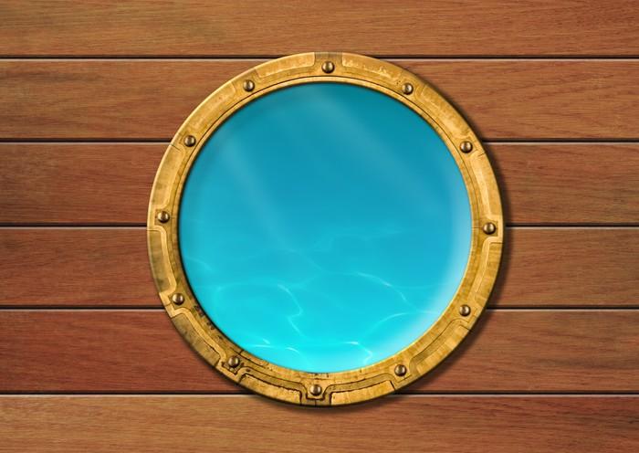 Vinylová Tapeta Loď okénko s podvodní pohled - Lodě