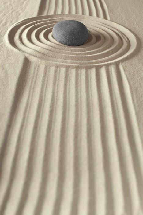 Plakát Meditace rocková zen zahrada - Náboženství
