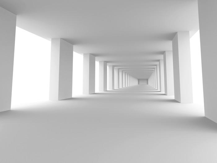 Papier peint long couloir pixers nous vivons pour changer - Papier peint couloir long ...