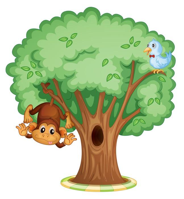 papier peint singe dans un arbre pixers nous vivons pour changer. Black Bedroom Furniture Sets. Home Design Ideas