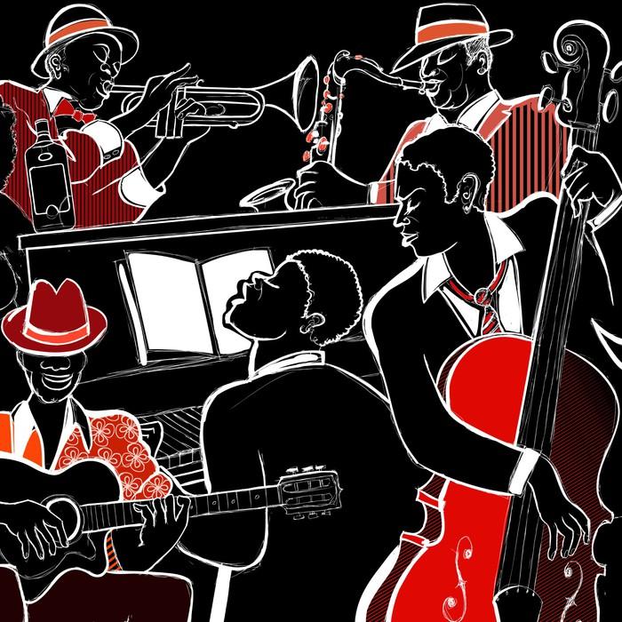 fototapete jazzband pixers wir leben um zu ver ndern. Black Bedroom Furniture Sets. Home Design Ideas