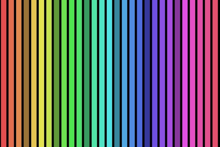 Vinilo Pixerstick Rayas Verticales De Colores Sobre Fondo