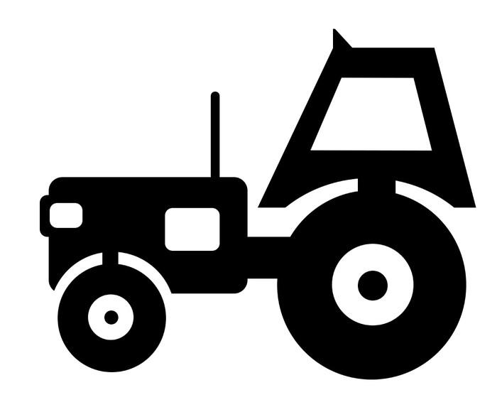Vinylová Tapeta Klasický vintage traktor skica - Nálepka na stěny