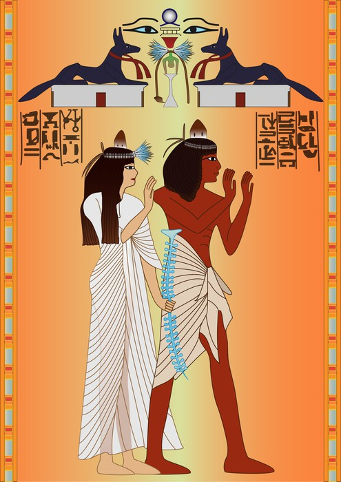 Vinylová Tapeta Egyptský - freska - Afrika