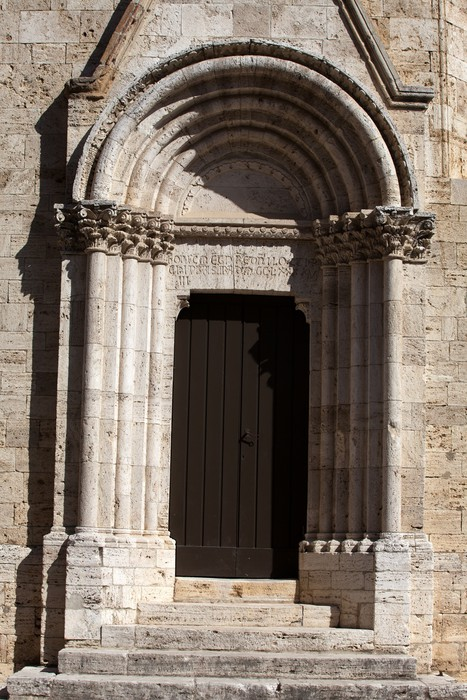 Vinylová Tapeta Kostel La Collegiata di San Quirico D'Orcia, Toskánsko - Evropa
