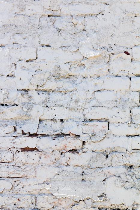 Vinylová Tapeta Bílá cihlová zeď vzor pozadí - Pozadí