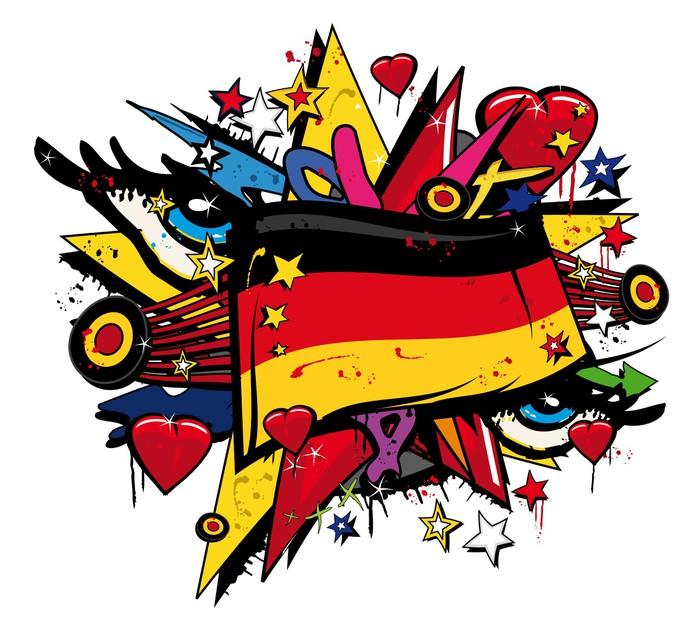 Germany Graffiti German graffiti flag pop art illustration ...