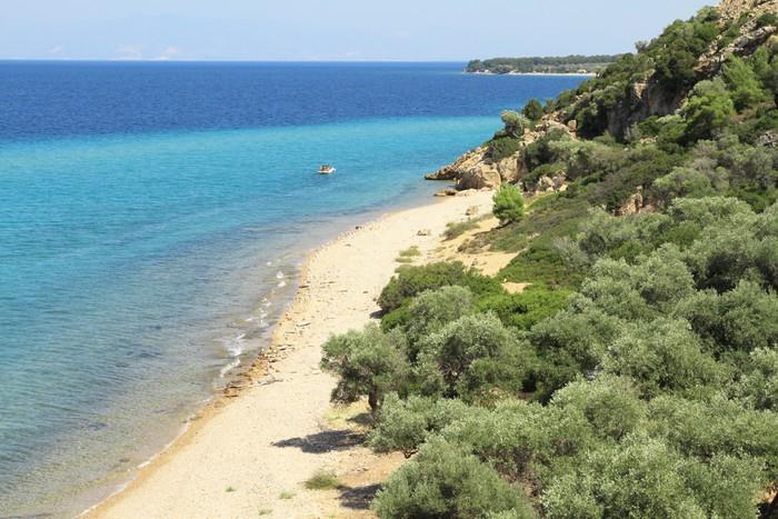 Vinylová Tapeta Idylické pláže, na ostrově Thasos - Řecko - Evropa