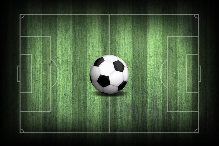 Fotomural Campo de fútbol con la pelota • Pixers® - Vivimos para cambiar 895e8057a407f