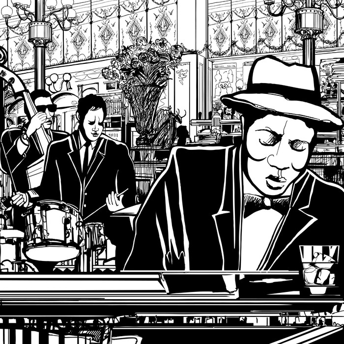 piano-Jazz band in a restaurant Wall Mural - Vinyl - Jazz