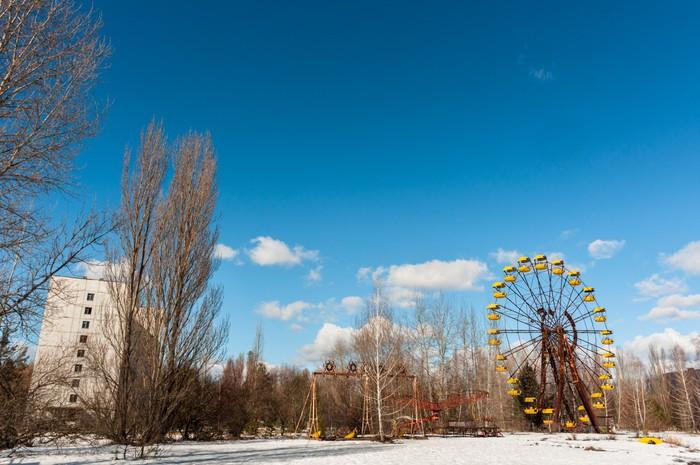 Vinylová fototapeta Ferris Wheel v Pripyat, Chernobyl 2012 Březen - Vinylová fototapeta