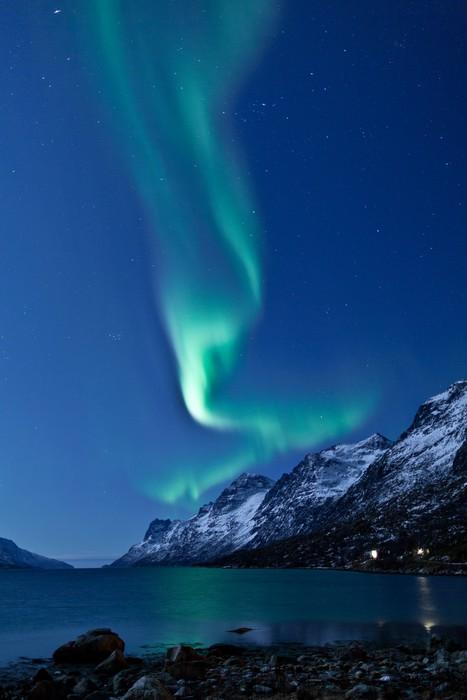 Vinylová Tapeta Aurora Borealis v Norsku, který se odráží - Témata