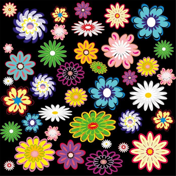 Vinylová Tapeta Květiny Pozadí - Criteo