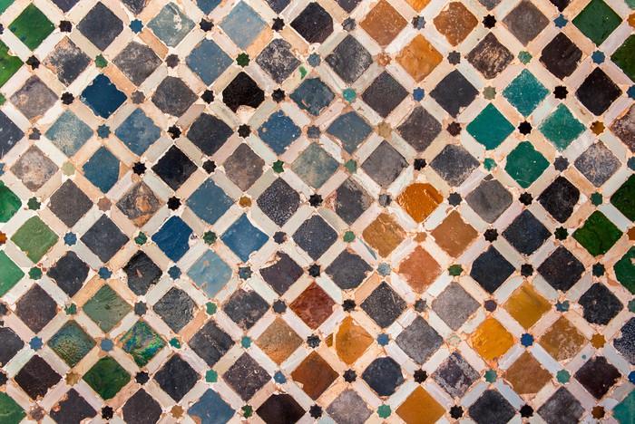 Fototapete tile dekoration alhambra spanien pixers for Dekoration spanien