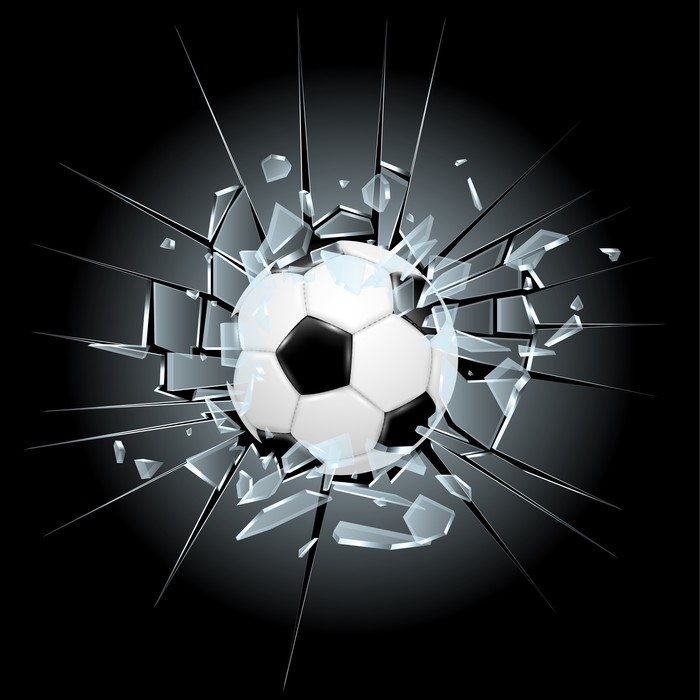 Vinilo Pixerstick Fútbol soccer vidrios rotos • Pixers® - Vivimos ...