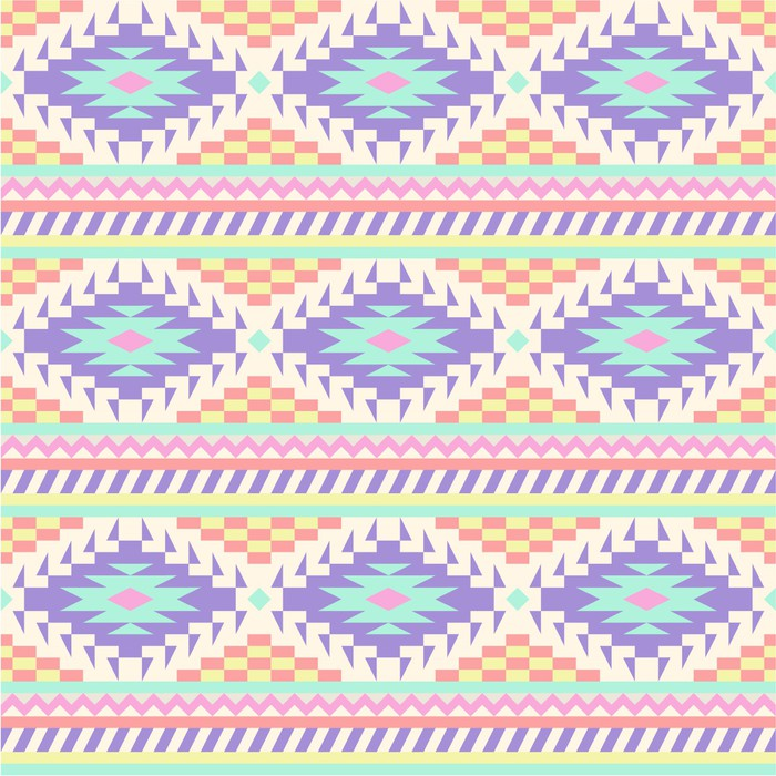 seamless ethnic background in pastel tints sticker