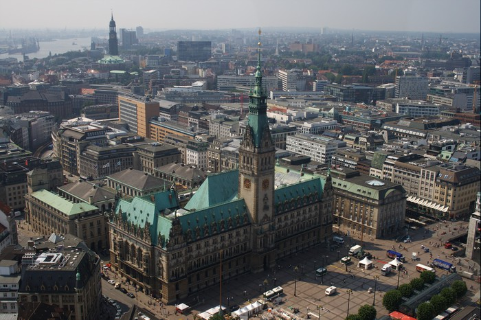 Vinylová fototapeta Hamburk, Rathaus, Skyline, Deutschland - Vinylová fototapeta