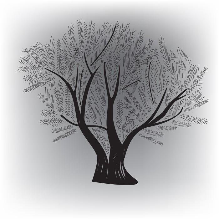 Papier peint motifs arbre d 39 origine pixers nous - Papier peint motif arbres ...