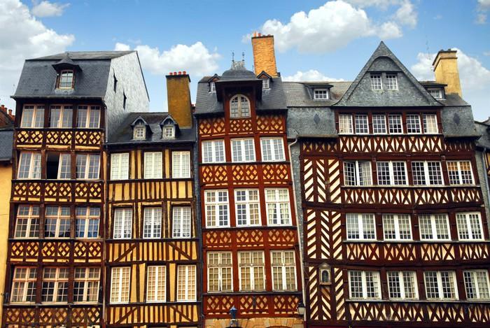 Vinylová Tapeta Středověké domy - Evropa
