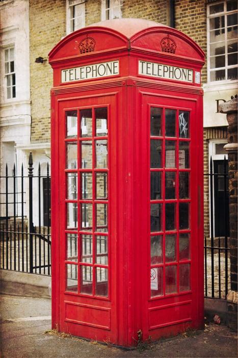 Carta da parati cabina telefonica inglese pixers - Descrizione camera da letto in inglese ...