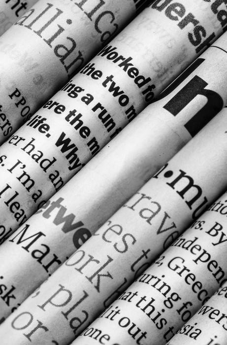 Tableau sur Toile Détail journaux -