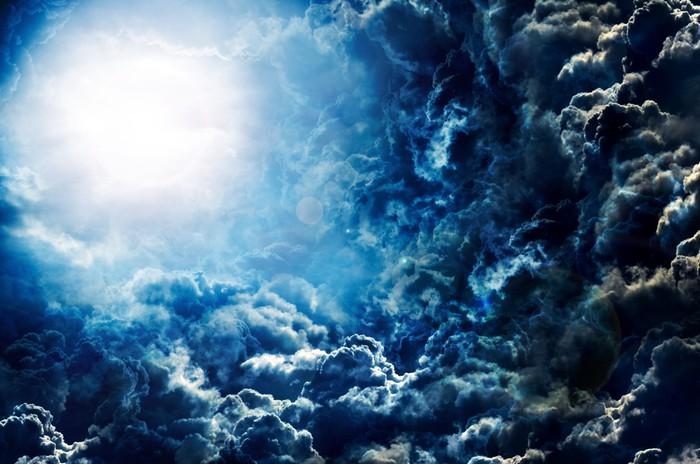 Vinylová Tapeta Temnou oblohu s měsícem - Pozadí