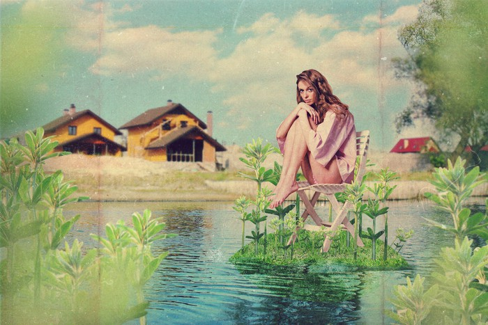 Vinylová Tapeta Umění koláž s krásnou ženou - Zemědělství